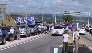 Movilización en San Carlos. Foto: R.Figueredo