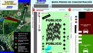 Mapa del operativo de seguridad. Foto: El País