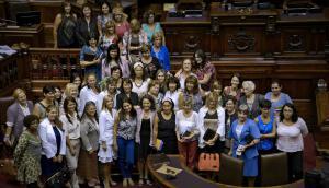 Género: integrantes de las bancadas femeninas de todos los partidos  en el actual período legislativo. Foto: EFE
