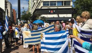 Protesta en apoyo a productores rurales en 18 de Julio. Foto: Nicolás González.