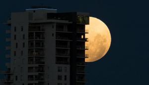 La superluna desde Australia. Foto: EFE