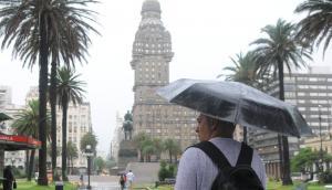 Tormenta en Montevideo. Foto: Archivo El País