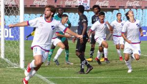 Guillermo May festejando el 1-0 de Nacional sobre Independiente del Valle en la final de la Copa Libertadores sub 20. Foto: @Libertadoresuy