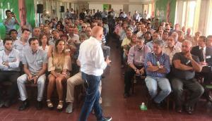El presidente del Partido de la Gente reunido con dirigentes. Foto: Difusión