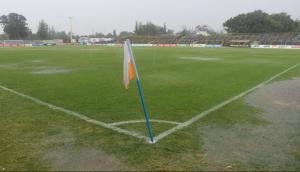 Así quedó el Estadio Parque José Nasazzi tras las lluvias del domingo. Foto: Francisco Flores.