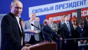 Putin: el presidente ruso obtuvo la reelección con más del 76% de los votos. Foto: Reuters