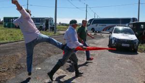 La caravana de Lula Da Silva hacia Livramento fue entre protestas e incidentes. Foto: AFP
