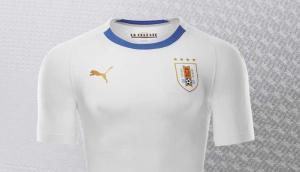Camiseta blanca de Uruguay