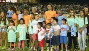 Cavani en el partido que judó en Salto, en diciembre. Foto .archivo El País