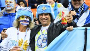 Hinchas uruguayos en Rusia