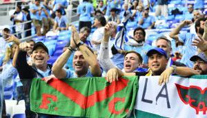 La previa del partido Uruguay-Francia en Nizhny Novgorod. Foto: Nicolás Pereyra