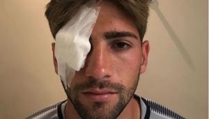 Gonzalo Lamardo luego de ser atendido en el hospital. Foto: Instagram - jpbatista