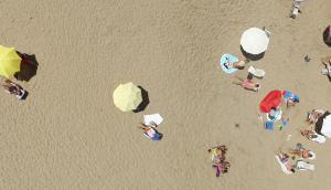 Playa Bikini desde el aire. Foto: Ricardo Figueredo