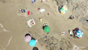 Playa La Barra desde el aire. Foto: Ricardo Figueredo