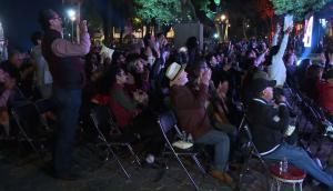 Vecinos de barrio mexicano Roma celebran sus tres premios Óscar. Foto: AFP