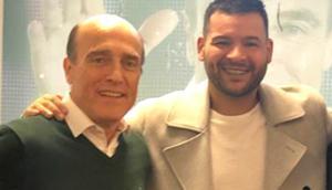 Daniel Martínez junto a El Gucci. Foto: @elguccioficial