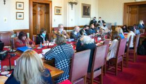 La comisión de Educación recibió al Codicen, Primaria y al ministro Pablo da Silveira. Foto: Parlamento uruguayo