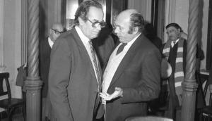 Alberto Zumarán junto a Wilson Ferreira Aldunate. Foto: Archivo El País