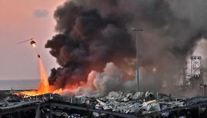 Explosión en Beirut. Foto: AFP