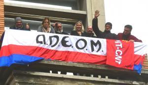 Manifestación de Adeom en la IMM. Foto: Francisco Flores