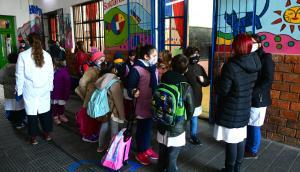 Escolares con tapabocas por la pandemia del coronavirus. Foto: Francisco Flores