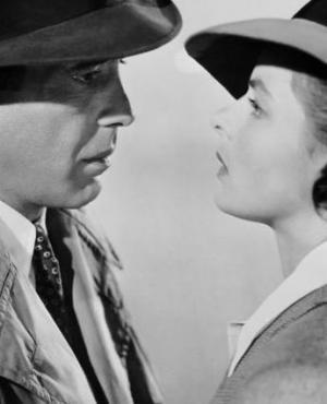 Un clásico: Humphrey Bogart e Ingrid Bergman, los protagonistas de Casablanca.