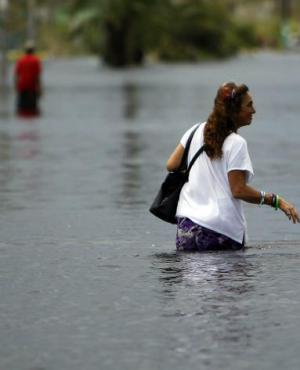 Inundado: el huracán convirtió las calles de San Juan en ríos. Foto: AFP