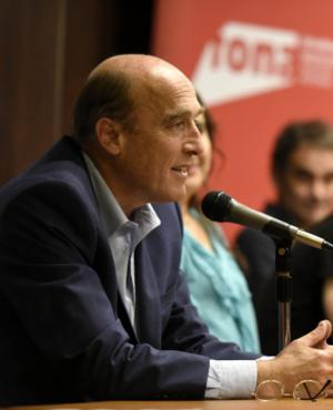 Daniel Martínez en el entrega de los premios FONA 2017