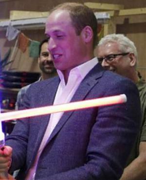 Los príncipes en el set de la nueva Star Wars. Foto: Archivo