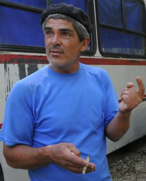 El colono Gabriel Arrieta en 2014. Foto: Ariel Colmegna.