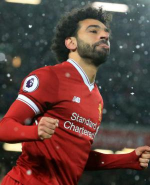 Salah celebra un gol ante Watford. Foto: AFP.