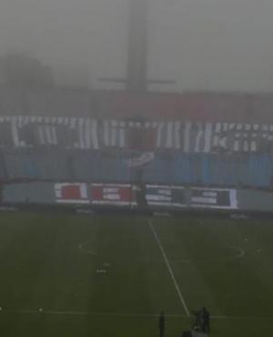 Así luce el mosaico de Nacional en la tribuna Olímpica del Estadio Centenario. Foto: Leonardo Mainé.