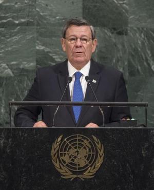 Rodolfo Nin Novoa en la ONU. Foto: EFE