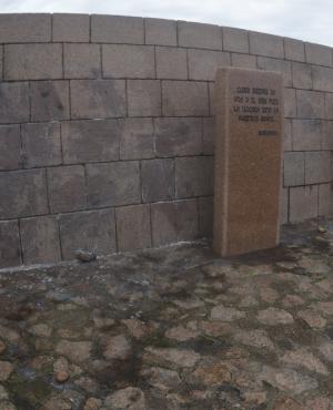 El memorial de la rambla dos veces en pocos días. Foto: Fernando Ponzetto