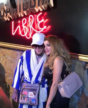 Alexander y Charlotte Caniggia en la fiesta de final de su reality show.