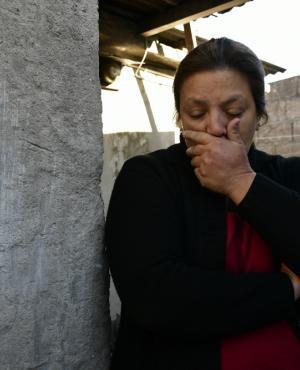 Ana Paula Gerez, la madre de la niña que desapareció el pasado lunes. Foto: F. Ponzetto