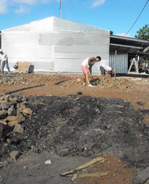 Reconstrucción del bagashopping de Salto. Foto: Luis Pérez