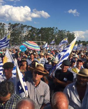 Movilización del agro en Durazno. foto: Fernando Ponzetto