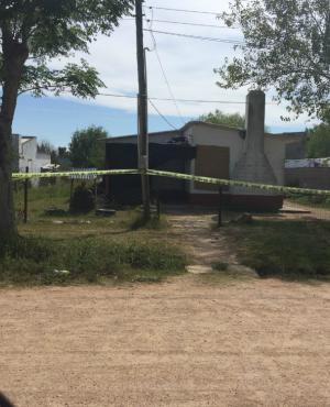 La casa donde fue hallada muerta la mujer. Foto: Martín Sánchez.