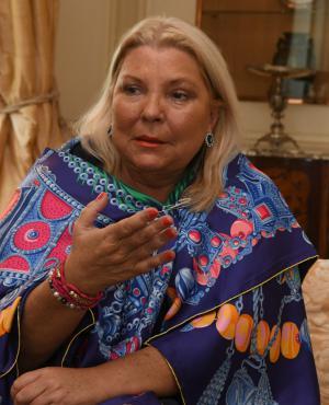 Elisa Carrió, diputada argentina. Foto: Ariel Colmegna.