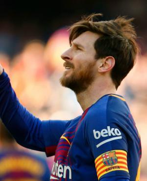 Lionel Messi celebra su gol. Foto: AFP