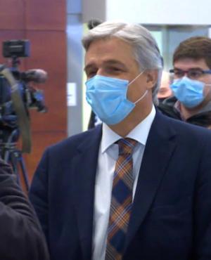 Francisco Bustillo volvió a Uruguay desde España el domingo pasado e inició una cuarentena de una semana por la pandemia. Foto: Comunicación presidencial