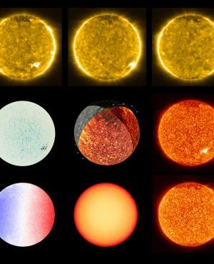 Fotos del sol sacada por la NASA. Foto: NASA
