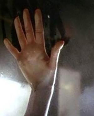 La icónica mano de Rose en Titanic.