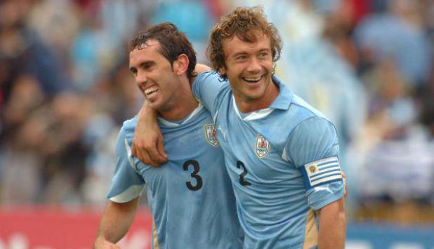 Inversores. Godín y Lugano, dos ídolos del fútbol uruguayo que se asociaron. Foto: Ariel Colmenaga