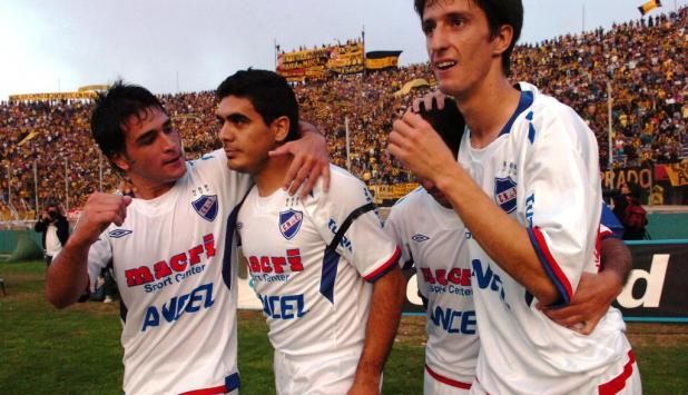 Lodeiro, Matute Morales y el Flaco Fernández. Foto: Archivo El País