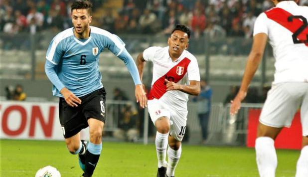 Rodrigo Bentancur - Uruguay vs. Perú. Foto: @Uruguay