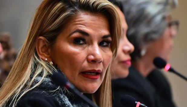 Jeanine Áñez criticada por la represión a las protestas. Foto: AFP