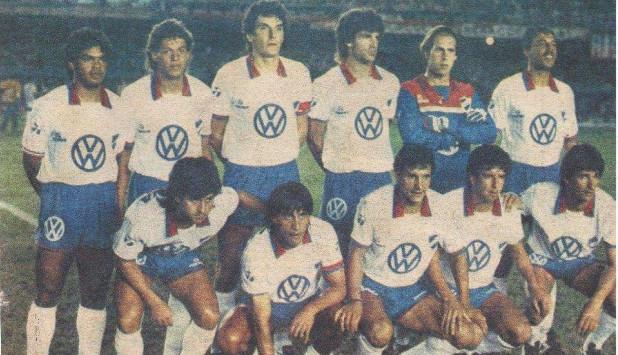 El equipo de Nacional que le ganó 2-0 a Flamengo en Maracaná en 1988. Foto: Archivo El País.