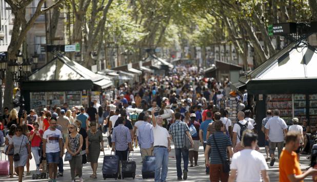 Las Ramblas en el Centro de Barcelona. Foto: Reuters
